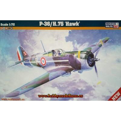 CURTISS P-36 HAWK - ESCALA 1/72 - MISTER CRAFT 042141
