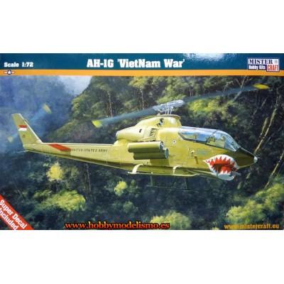 HELICOPTERO AH-1G VIETNAM WAR - ESCALA 1/72 - MISTER CRAFT 020316
