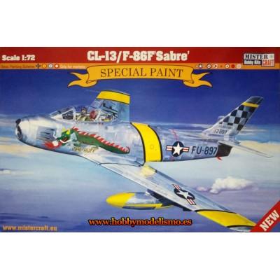 NORTH AMERICAN F-86F SABRE - ESCALA 1/72 - MISTER CRAFT 042608 - CALCAS ESPAÑOLAS