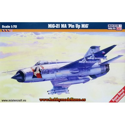 MIKOYAN MIG-21 MA PIN UP MIG- ESCALA 1/72 - Mister Craft 030179