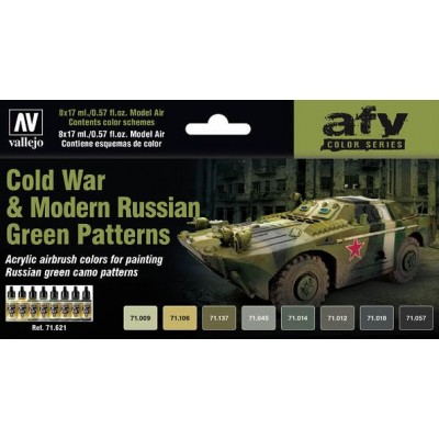 AFV Series: GUERRA FRIA - MODERNOS RUSOS Camuflaje Verde - Acrylicos Vallejo 71621