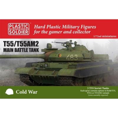 CARRO DE COMBATE T-55 / T-55 AM2 (3 unidades) -1/72- Plastic Soldier MODV20001