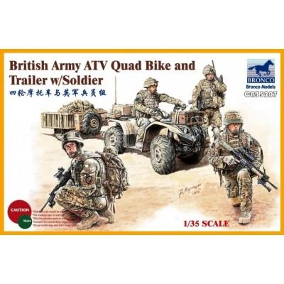 TROPAS BRITANICAS & ATV Quad Bike -1/35- Bronco Model CB35207