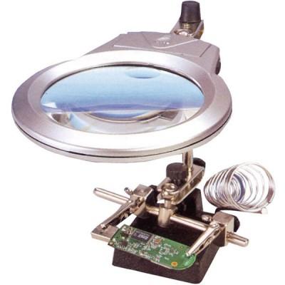 ROBOT LUPA ELECTRONICA CON LED Y SOPORTE PARA SOLDADOR - DISMOER 19101
