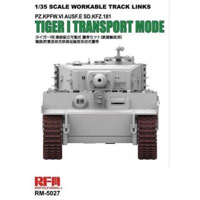 SET ORUGAS TRANSPORTE Sd.Kfz. 181 E (Early) TIGER I -1/35- Rye Field Model RM-5027