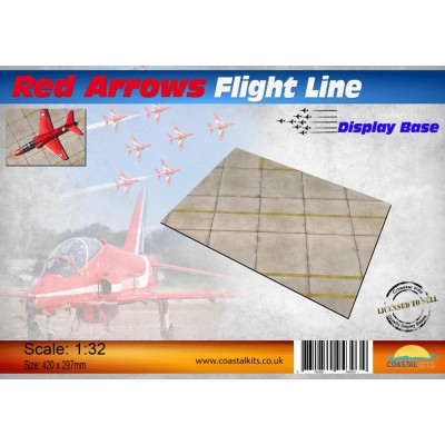 PISTA DE AVIACION RED ARROWS FLIGHT LINE (297 x 210 mm) -1/48- Coastal Kits CKS675-48