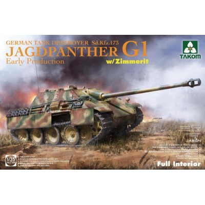 CAZACARROS Sd.Kfz. 173 Jagdpanther G Early (Zimmerit & Interiores) -1/35- Takom 2125