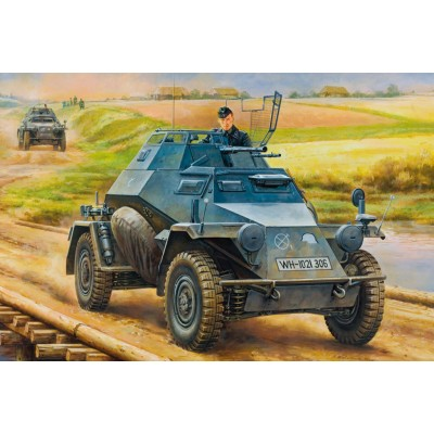 VEHICULO BLINDADO SD.KFZ. 222 (20 mm) Mid. production - Hobby Boss 80149