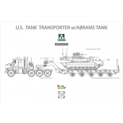 CAMION M-1070 & GONDOLA M-1000 CON Carro M-1 A2 SEP Abrams TUSK II -1/72- Takom 5002X
