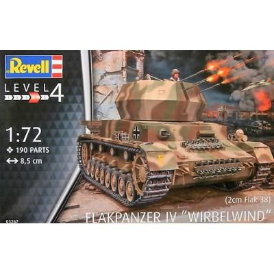 CARRO ANTIAEREO Sd.Kfz. 161/4 WIRBELWIND (Flak-38) -1/72- Revell 03267