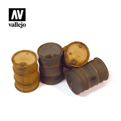 BIDONES COMBUSTIBLE ALEMANES 2 -1/35- Vallejo Scenics SC202
