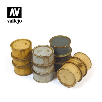 BIDONES COMBUSTIBLE ALEMANES 1 -1/35- Vallejo Scenics SC201