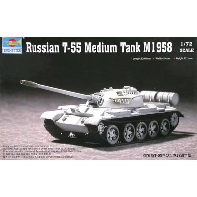 CARRO DE COMBATE T-55 Mod.1958 -1/72- Trumpeter 07282