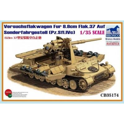 CARRO ANTIAEREO FLAKWAGEN FLAK 88 (Pz. Sfl. IV c) -1/35- Bronco Model CB35174