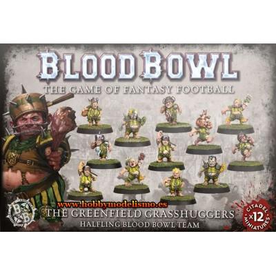 BLOOD BOWL THE GREENFIELD GRASSHUGGERS HALFLING TEAM - GAMES WORKSHOP 200-65