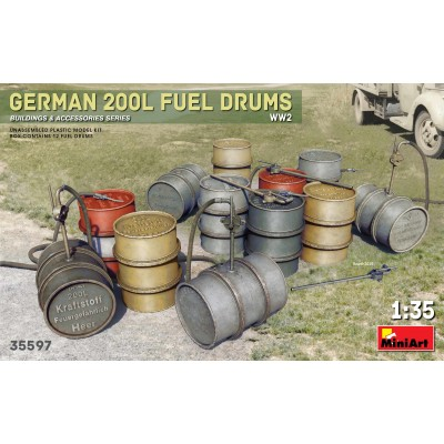 BIDONES COMBUSTIBLE ALEMANES 200 l -1/35- MiniArt Models 35597