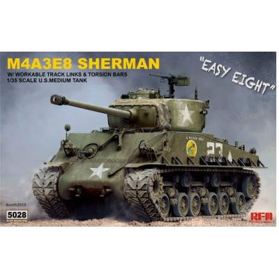 CARRO DE COMBATE M-4 A3E8 SHERMAN -1/35- Rye Field Model RM-5028