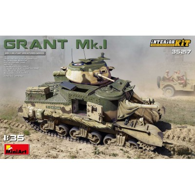 CARRO DE COMBATE M-3 GRANT MK-I & Interiores -1/35- MiniArt 35217