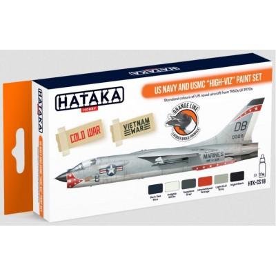 "SET COLORES LACA U.S. Navy & U.S. Marines ""Alta visibilidad"" (6 Botes) - HATAKA CS-18"
