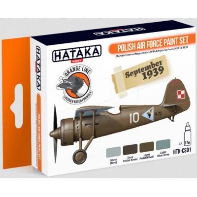 SET COLORES LACA FUERZA AEREA POLACA WWII (4 Botes) - HATAKA CS-01