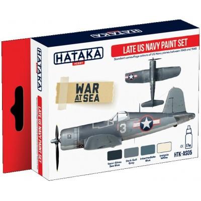 SET COLORES ACRILICO U.S. NAVY (4 Botes) - HATAKA AS-05