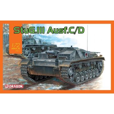 STUG.III AUSF.C/D - ESCALA 1/72 - DRAGON MODELS 7553