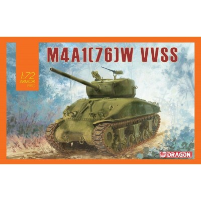 SHERMAN M4A1 (76) W VVSS - ESCALA 1/72 - DRAGON 7571