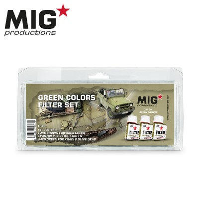 GREEN COLORS FILTER SET - MIG Productions P265