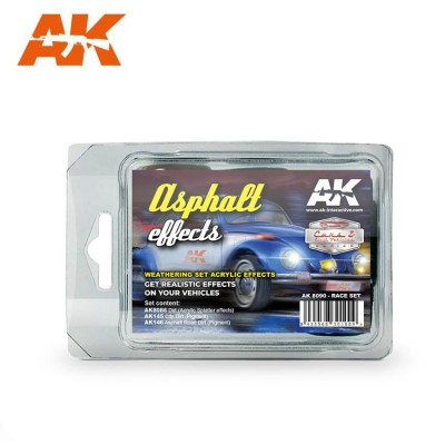 ASPHALT EFFECTS RACE SET - AK Interactive 8090