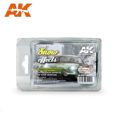 SNOW EFFECTS RALLY SET - AK Interactive 8091