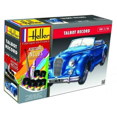 TALBOT LAGO RECORD (Pegamento & Pinturas) -1/24- Heller 56711