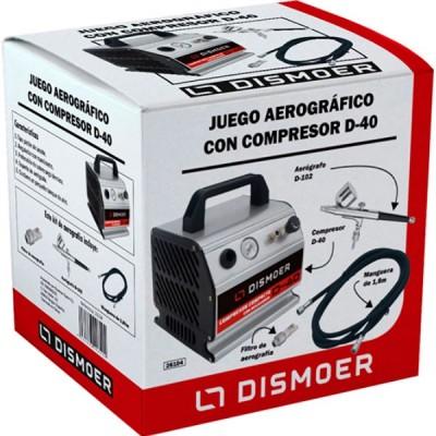 CONJUNTO AEROGRAFIA CON AEROGRAFO D102 Y COMPRESOR D-40