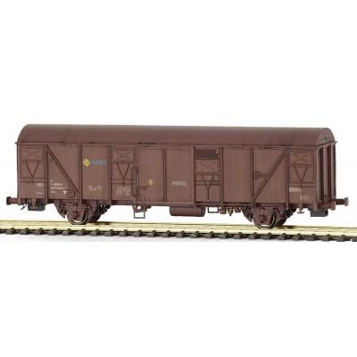 Vagón Gbs 150 0 358-0 Ep. IV, rejillas rojo oxido. Modelo envejecido, MABAR 81822 H0