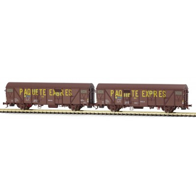 Set 2 vagones PAQUETE EXPRES Jfvcei 601643 / 601437. Ep. IV. MABAR 81829