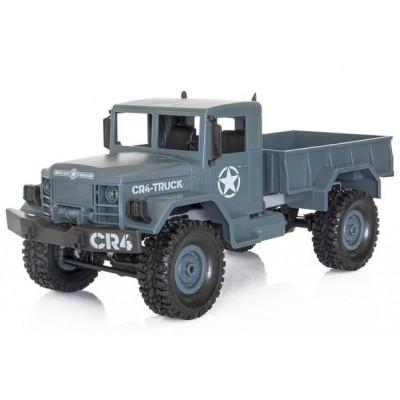 CAMION MILITAR RADIOCONTROL CR4 1/16 R/C COLOR GRIS FUNTEK-CR4-DG2