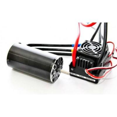 COMBO BRUSHLESS COCHE ELECTRICO 1/8 ( MOTOR 2000KV + VARIADOR 100 AMP. + TARJETA ELCTRONICA DE PROGRAMACION