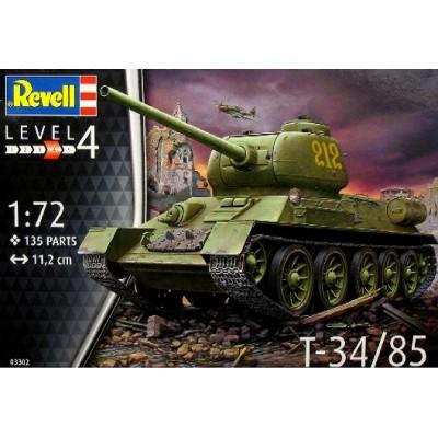 CARRO T-34/85 ESCALA 1/72 - REVELL 03302