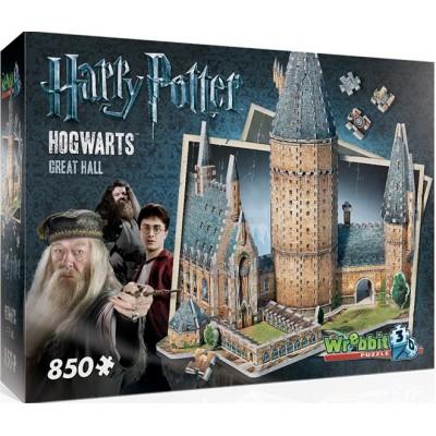 PUZZLE 3D GREAT HALL HOGWARTS 850 PIEZAS - WREBBIT 02014