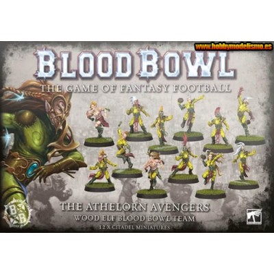 THE ATHELORN AVENGERS WOOD ELF TEAM BLOOD BOWL - GAMES WORKSHOP 200-66