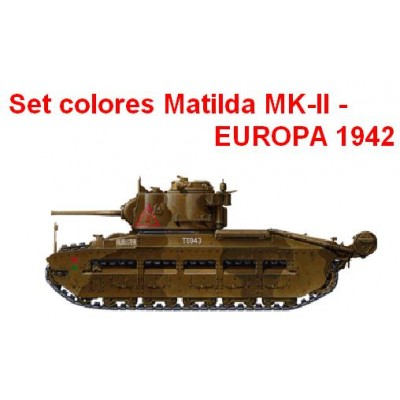 SET COLORES CARRO MATILDA EUROPA 1942