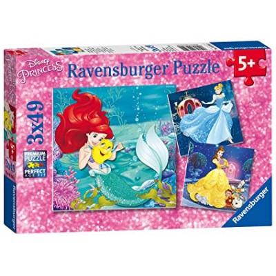 PUZZLE 3 X 49 PIEZAS LAS AVENTURAS DE LAS PRINCESAS - RAVENSBURGER 09350