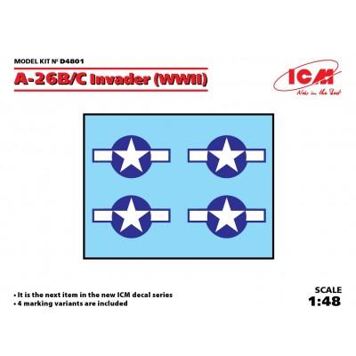 SET DE CALCAS A-26 B/C INVADER -1/48- ICM D4801