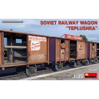 """VAGON MERCANCIAS """"TEPLUSHKA"""" -1/35- MiniArt Model 35300"""