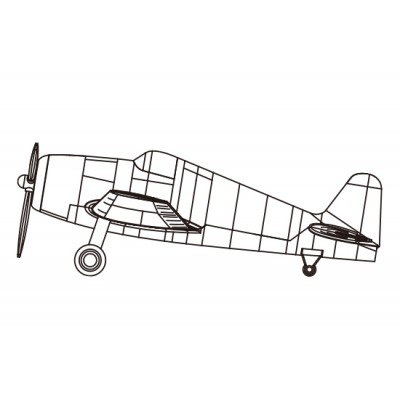 GRUMMAN F6F HELLCAT (Pre-pintado) -1/350- Trumpeter 06406