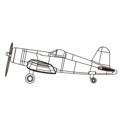 VOUGHT F4U-4 CORSAIR (Pre-pintado) -1/350- Trumpeter 06405
