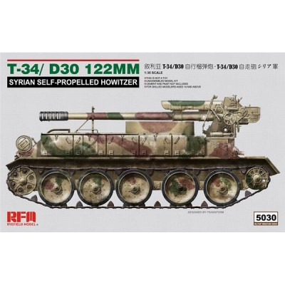 OBUS AUTOPROPULSADO T-34 / D-30 (122 mm) -1/35- Rye Field Model RM5030