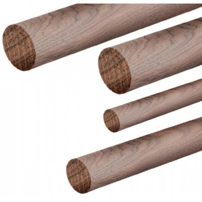 VARILLA REDONDA NOGAL (4 x 1.000 mm) 4 unidades