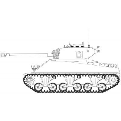 "CARRO DE COMBATE M-4 A3 (76) W SHERMAN ""Batalla de las Ardenas"" -1/35- Airfix A1365"