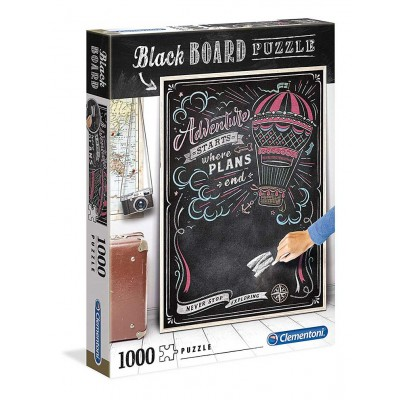 PUZZLE 1000 PZS BLACK BOARD TRAVEL - CLEMENTONI 39478