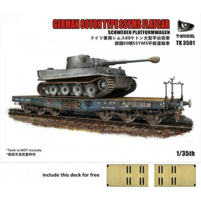 VAGON PLATAFORMA SSyms (80 Tm) -1/35- T-Model 3501I